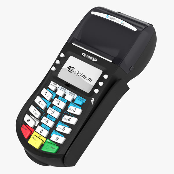 pos terminal hypercom optimum 3d model