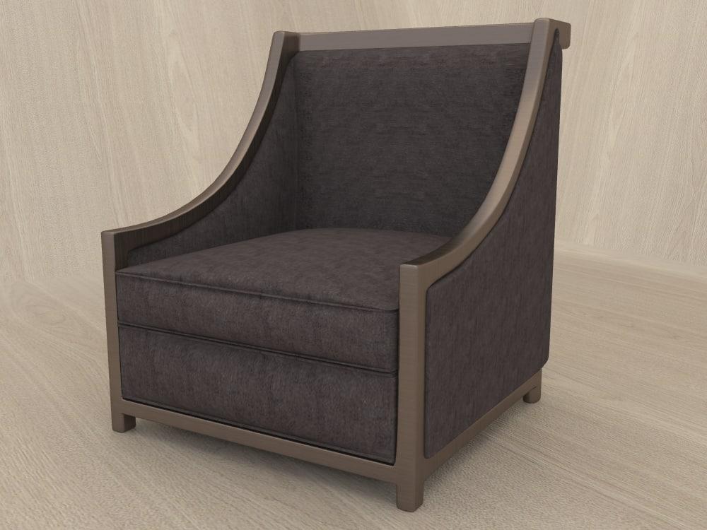vintage chair 3d ma
