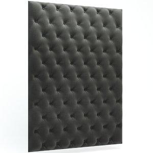 3d capitone wall panels model