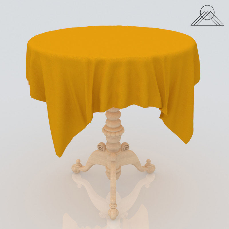 3d model covered table