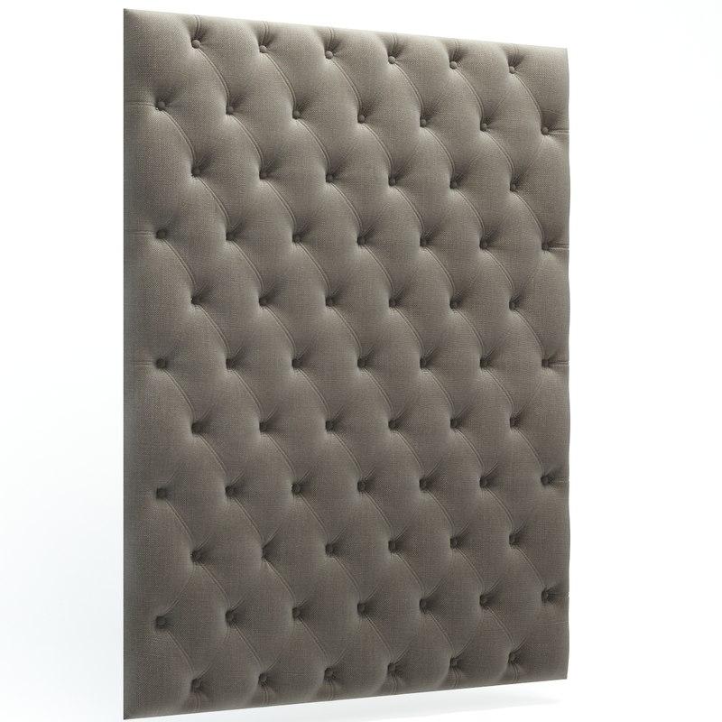 capitone wall panels 3d max