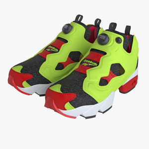 3d model photoreal shoes reebok pump