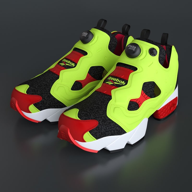 3d model photoreal shoes reebok pump