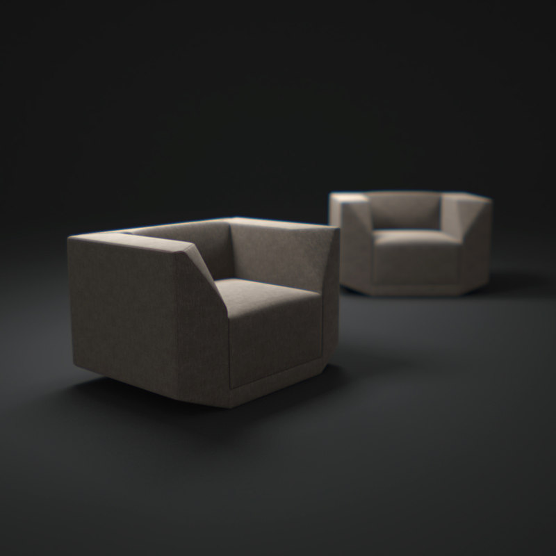 bb-arm-chair 3d model