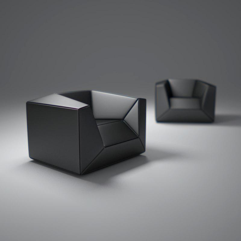 fx10-lounge-chair 3d model