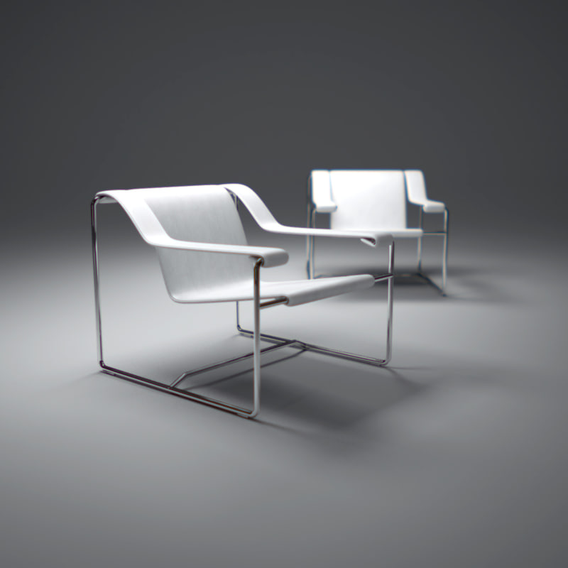 frederick-carbon-steel-lounge-chair 3d max