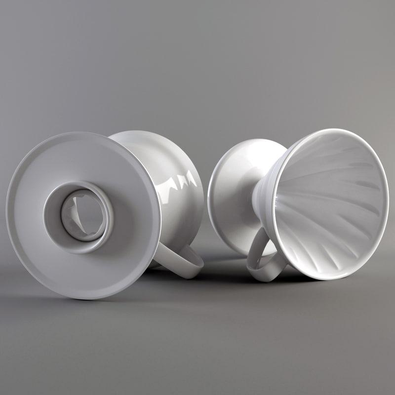 3d model of hario coffee dripper