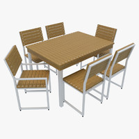 outdoor furniture 2 chairs 3d model