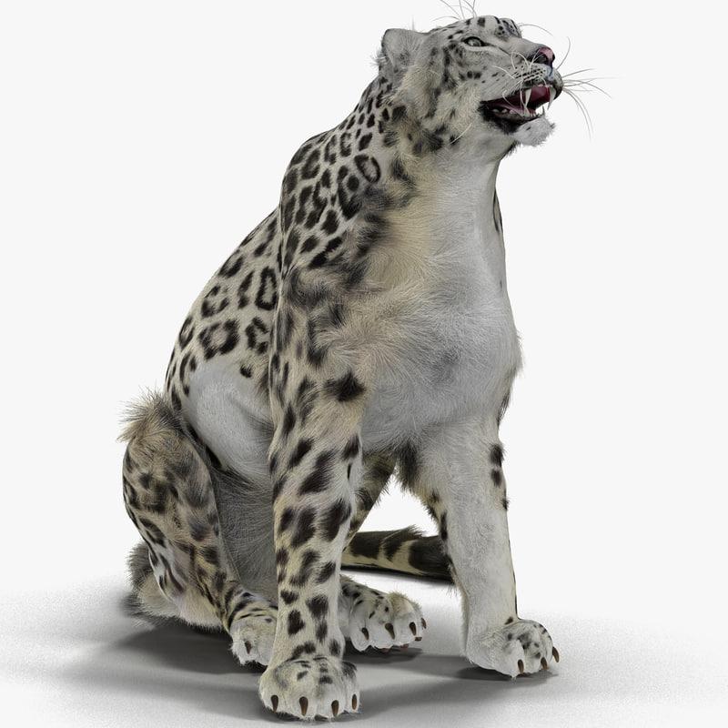 3ds max snow leopard pose