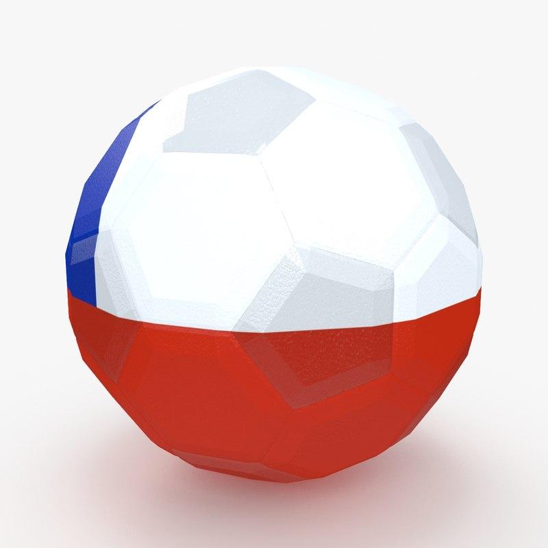 3d 3ds soccer ball