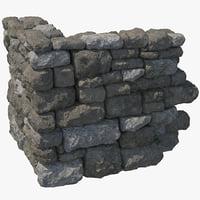3d model stonewall corner