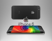 3d model of iphone 6 logo