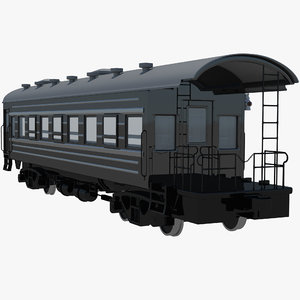 obj passenger train caboose