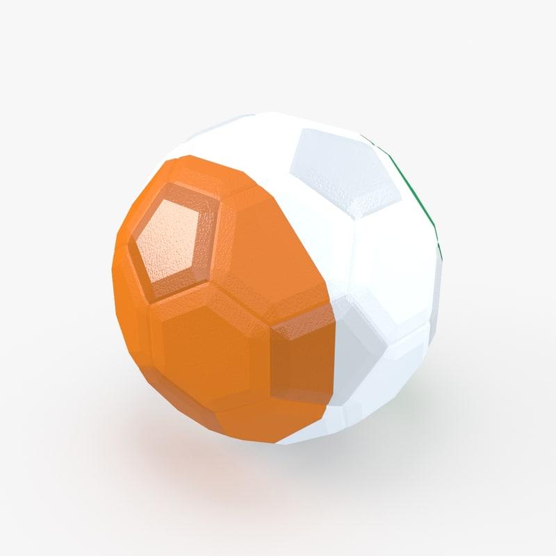 3d model of soccer ball