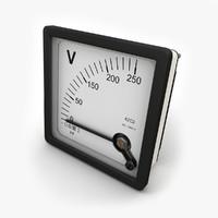 Panel DC Voltmeter