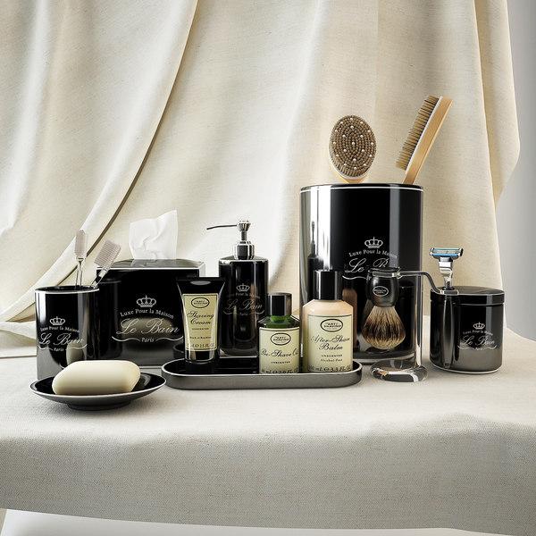 bath accessories black le 3d model