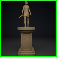 Walking Elf statue