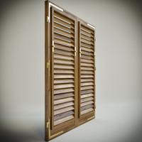 3d wood shutters -