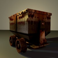 obj old mining cart