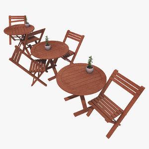 3d model designs old table seat