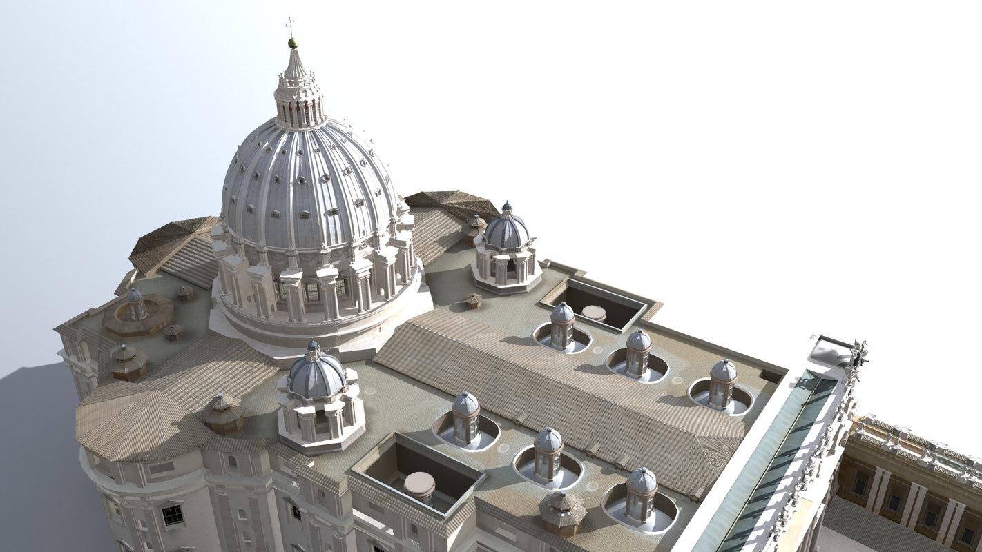 3d model basilica peter