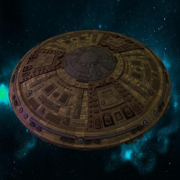 3d model dalek flying saucer doctor