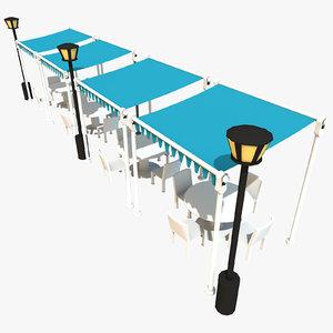 c4d outdoor tables