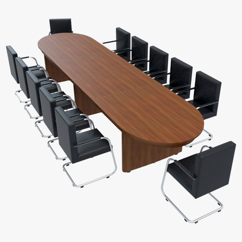 Conference table chairs 1 3ds for Meeting table design 3d