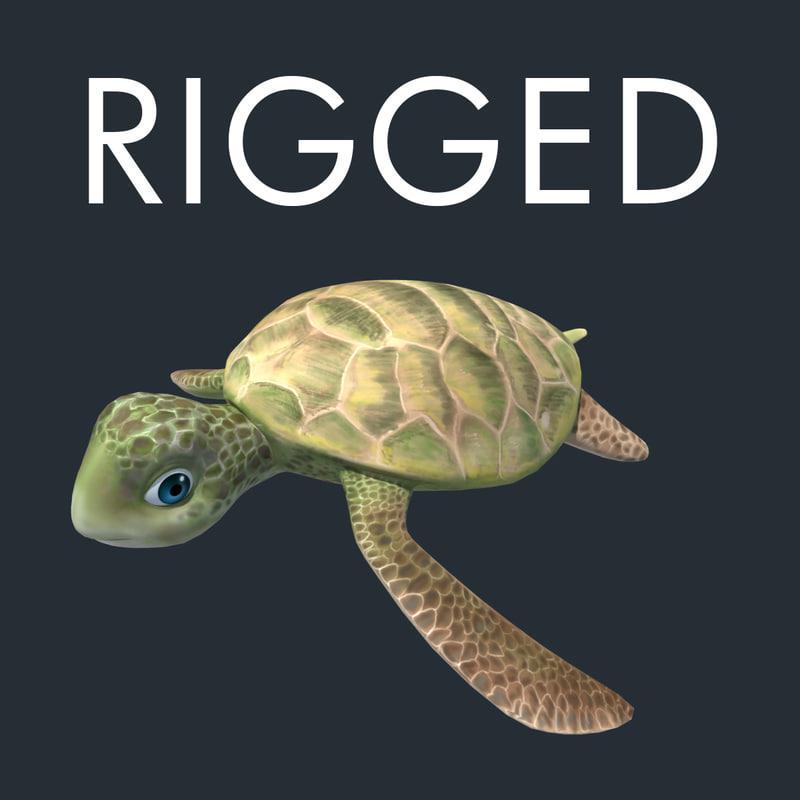 3d turtle karetta