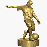 Football Player Gold Statue