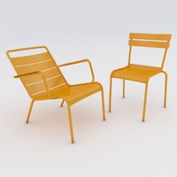 3d luxembourg chair armchair