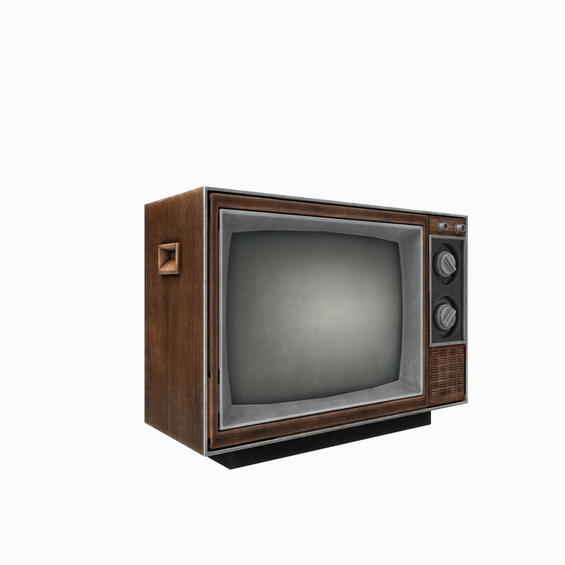vintage tv 3d model. Black Bedroom Furniture Sets. Home Design Ideas