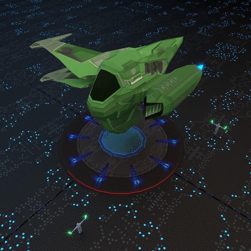 3d space spaceship ship