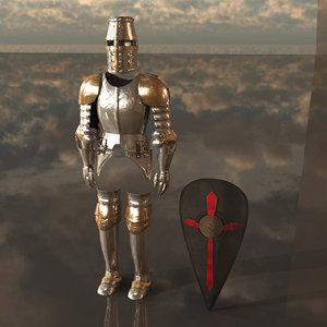 3d knight armor model