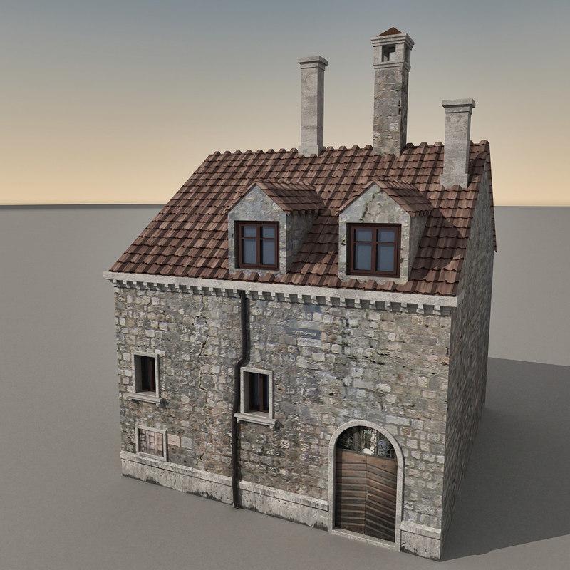 3d model building italian