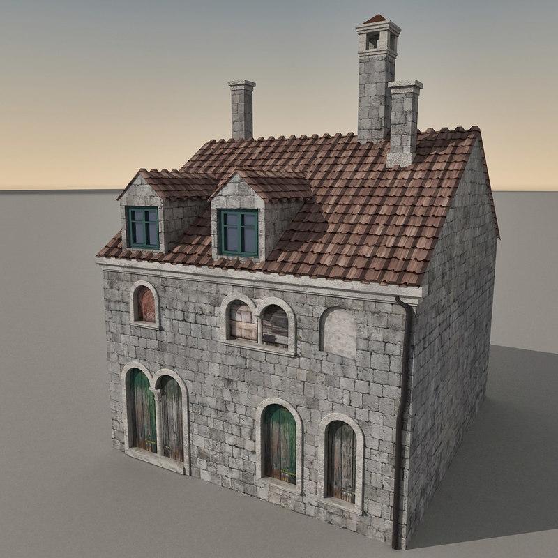 3d Model House Building Residential: 3d Building Italian Model