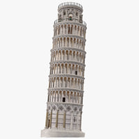 3d leaning tower pisa