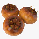 Mespilus fruit 3D models