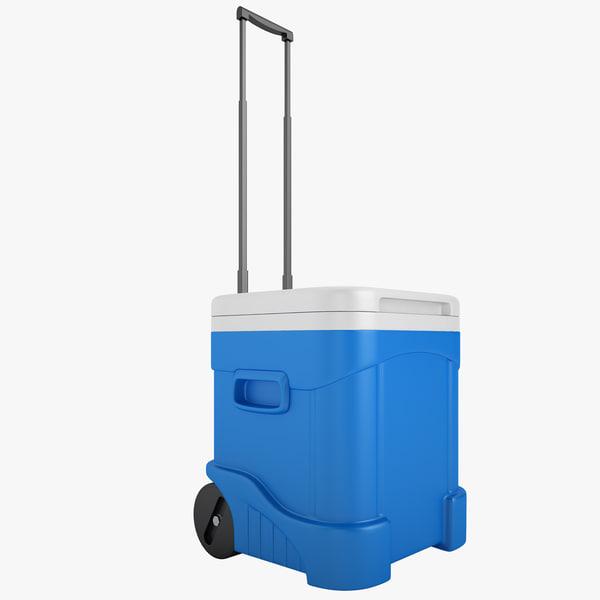 rolling cooler igloo 3d model