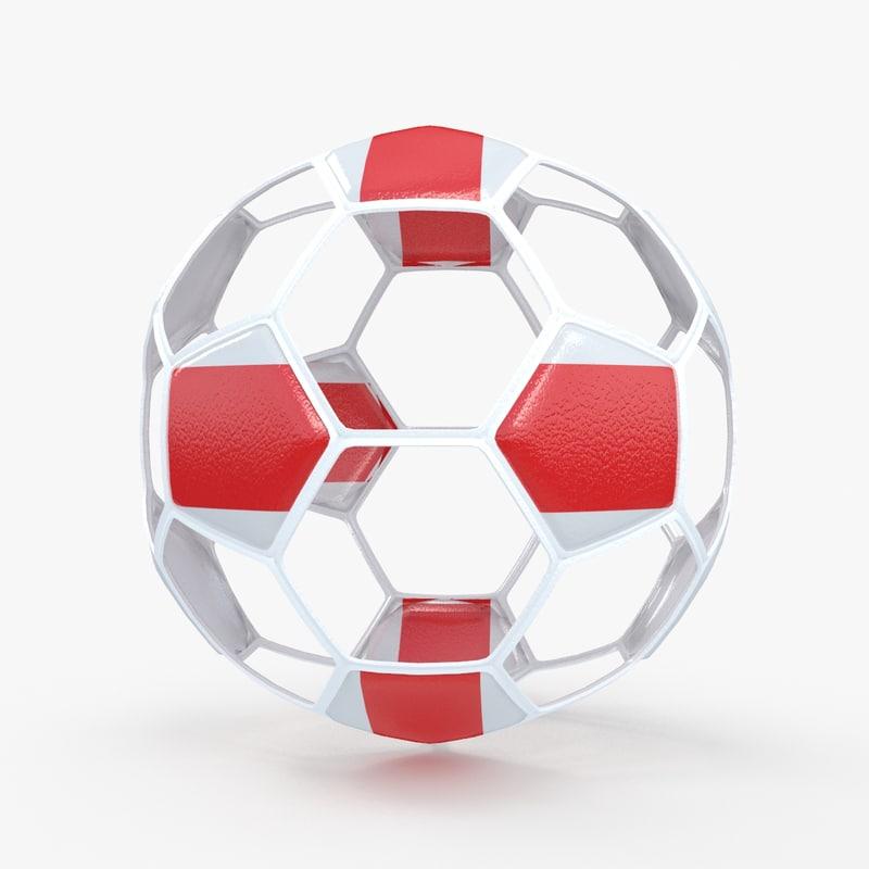 3d obj soccer ball