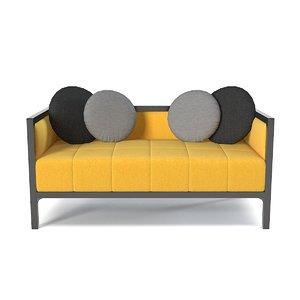 luisapeixotodesign love seat 3ds