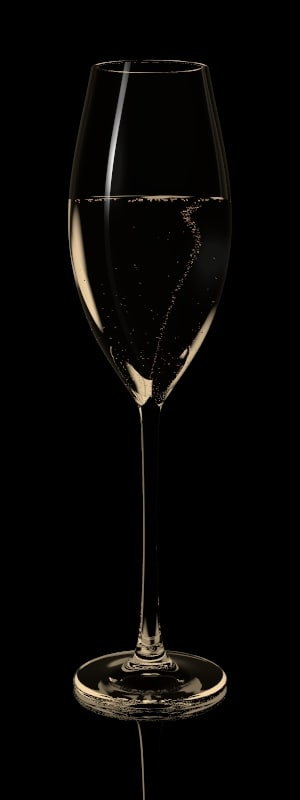 lightwave glass champagne bubbles