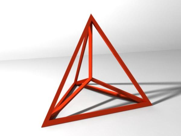 tetrahedron print 3d model