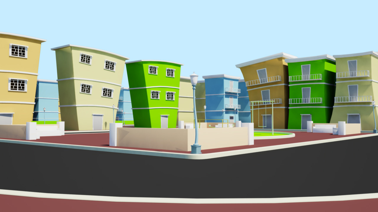 cartoon city 3d ma