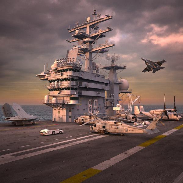 obj cvn 69 aircraft