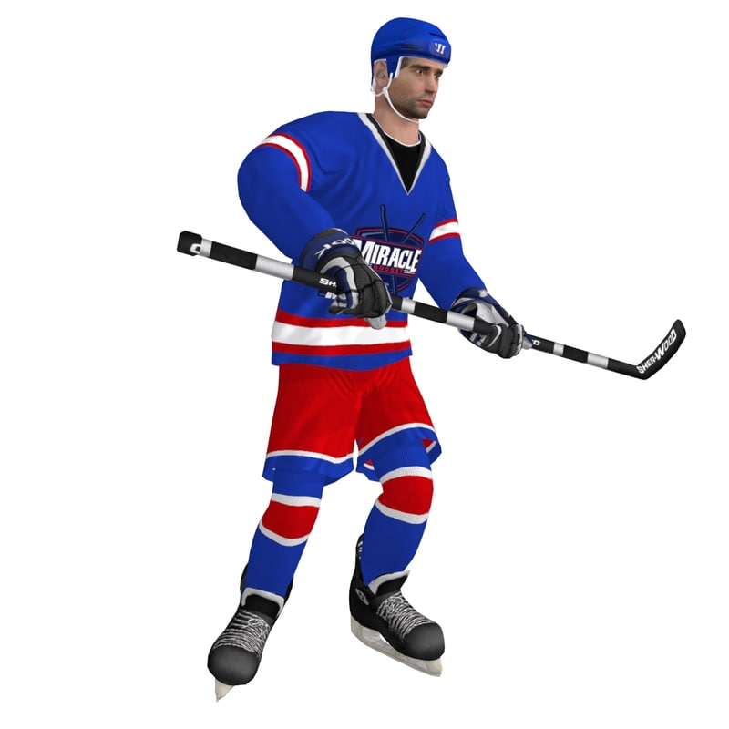 3d rigged hockey player