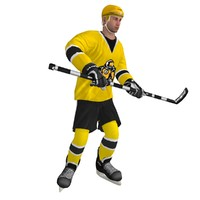 rigged hockey player 3d max