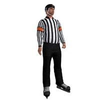 rigged hockey referee 3d model