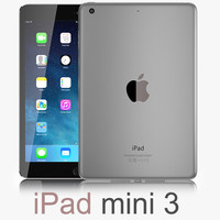 apple ipad mini 3 3d model