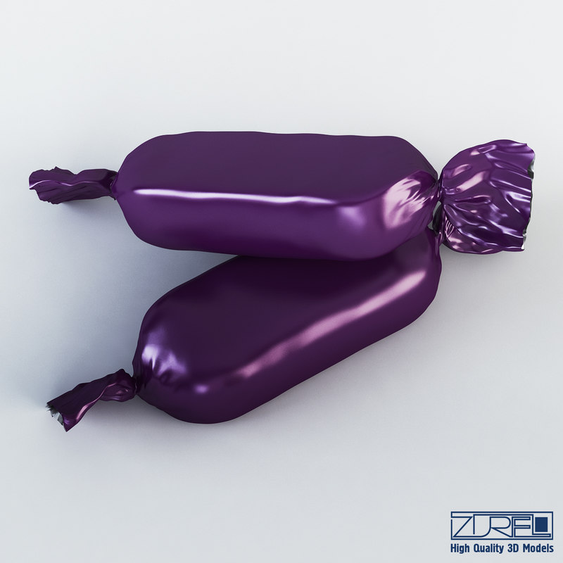 candy wrapper v 2 3d max